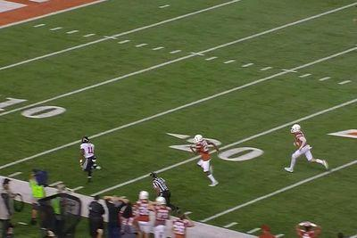 Perfect Texas Tech hit turned a sure Texas interception into an immaculate TD