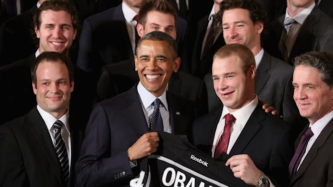 Stanley Cup Winning LA Kings And MLS Champions LA Galaxy Honored At White House