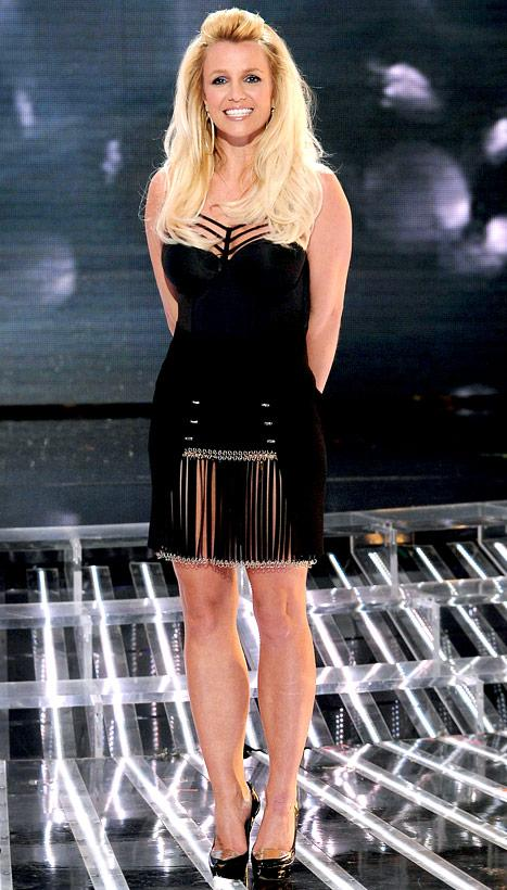 Britney Spears Shows Cleavage in S&M-Inspired Top on The X Factor