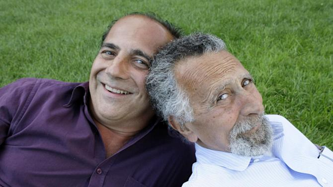 """FILE - This June 19, 2008 file photo shows brothers Tom, left, and Ray Magliozzi, hosts of National Public Radio's """"Car Talk"""" show, in Cambridge, Mass. The Magliozzi  brothers said Friday, June 8, 2012, they will stop making new episodes of their comic auto advice show at the end of September, 25 years after """"Car Talk"""" began in Boston. The show airs every Saturday morning and is National Public Radio's most popular program. Older brother Tom is 74 years old and the brothers say it's time to stop and smell the cappuccino. """"Car Talk"""" isn't disappearing, however. NPR says repurposed episodes will continue to air every week with material culled from the show's archives. (AP Photo/Charles Krupa, file)"""