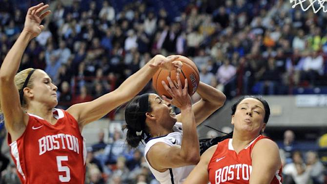 No. 1 UConn women beat Boston University 96-38