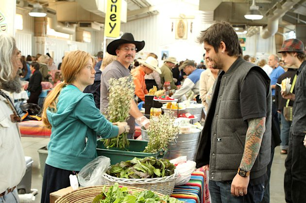 "Chef Ludo Lefebvre at the Santa Fe Farmers Market in Santa Fe, New Mexico as seen on ""Ludo Bites America."""
