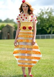 Dresses made out of cheddar