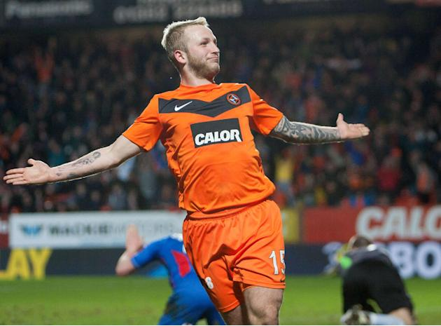 Johnny Russell had powered Dundee United to victory in the reverse fixture against Motherwell
