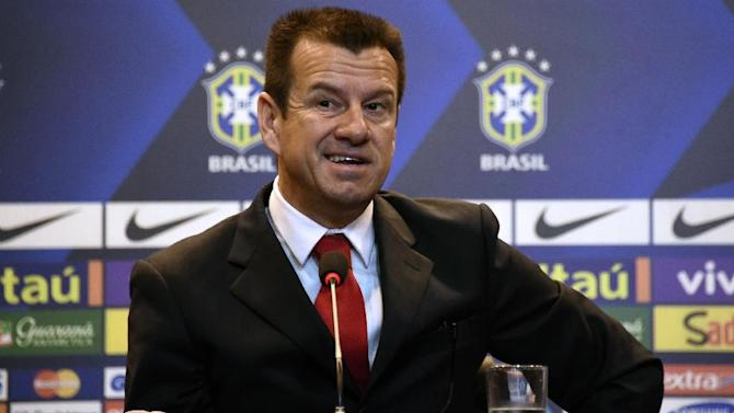 """Brazil's 1994 World-Cup winning skipper Carlos Verri, better known as """"Dunga"""", speaks during his presentation as new coach of the Brazilian national football team, in Rio de Janeiro, on July 22, 2014"""