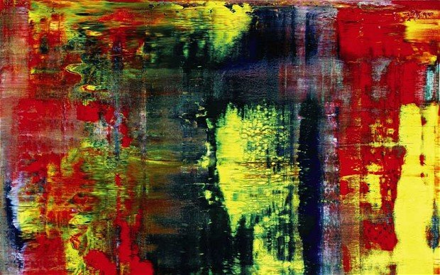 Gehrard Richter's abstract painting 'Abstraktes Bild (809-4)'