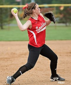 Archbishop Spalding pitcher Emily Weiman