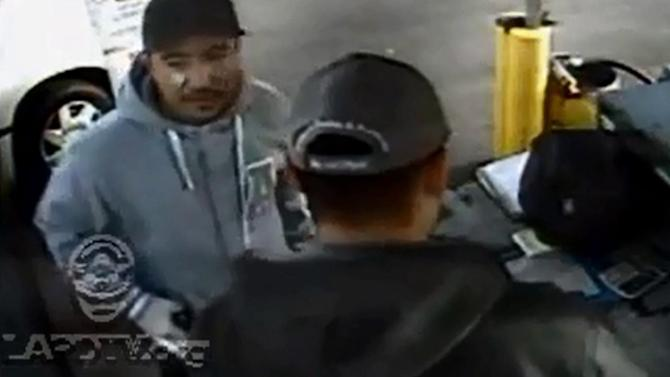 South LA armed robbery suspect caught on tape