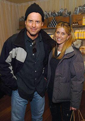 Greg Kinnear with wife Helen Motorola Lodge - 1/21/2005 Park City, Utah