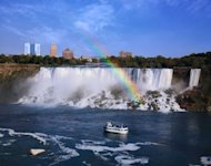 Niagara Falls, New York - the American Falls seen from Ontario Canada