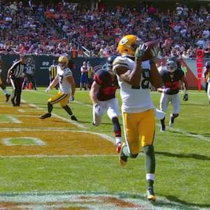 Green Bay Packers wide receiver Randall Cobb scores second touchdown