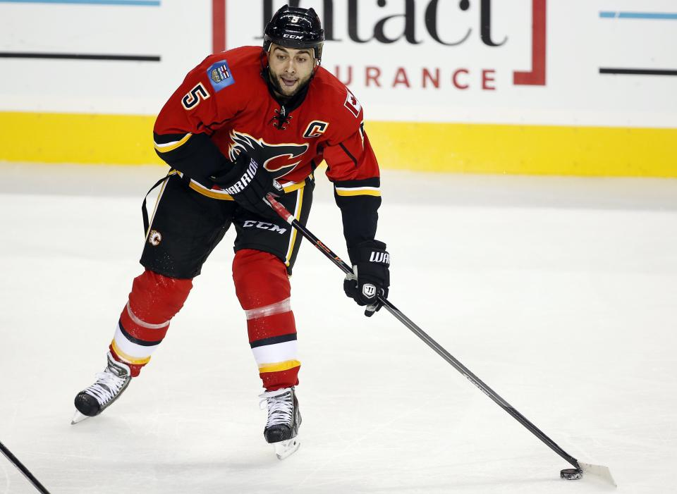 Flames' Giordano sidelined with broken ankle