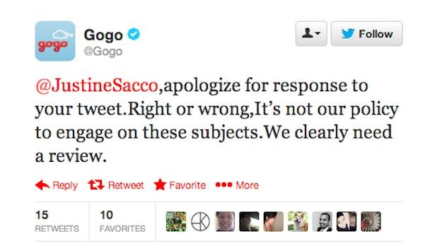 In-Flight Wifi Provider Gogo Apologizes for Justine Sacco Tweet