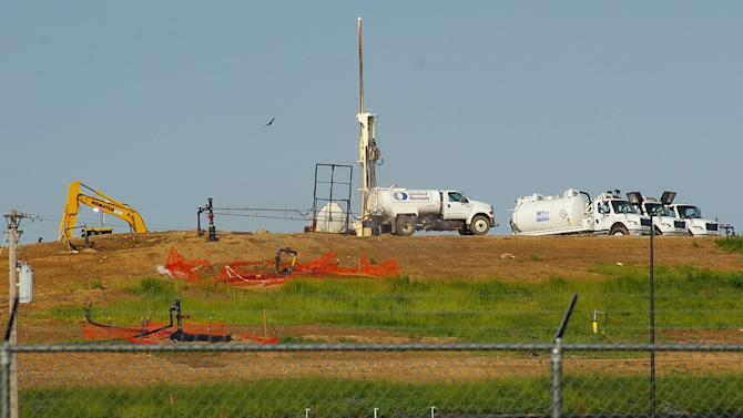 Smoldering landfill could threaten nuclear waste