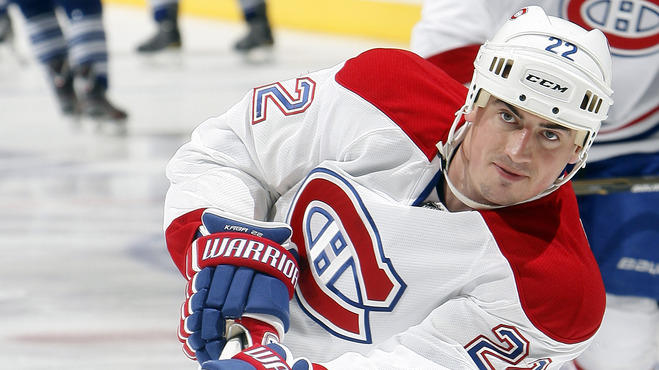 Tomas Kaberle #22 Of The Montreal Canadiens Shoots Getty Images