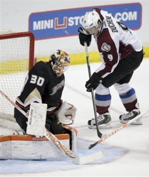 NHL-worst Colorado surprises Anaheim Ducks 4-1