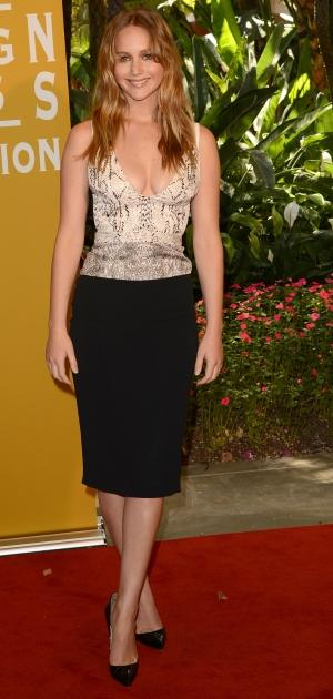 Jennifer Lawrence arrives at the Hollywood Foreign Press Association's 2012 Installation Luncheon held at the Beverly Hills Hotel in Beverly Hills, Calif. on August 9, 2012  -- Getty Images