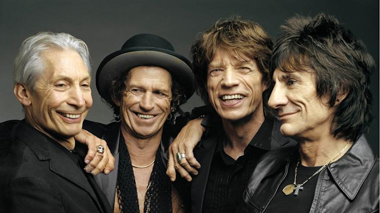 "FILE - This 2005 file photo, originally supplied by the Rolling Stones, shows the group, from left, Charlie Watts, Keith Richards, Mick Jagger, and Ron Wood posing during a photo shoot. The band said Wednesday, April 3, 2013, their ""50 and Counting"" tour will kick off in Los Angeles at the Staples Center. The date will be announced later. The tour will also visit San Jose, Calif.; Las Vegas; Anaheim, Calif.; Toronto; Chicago; and Boston. The tour wraps on June 18 in Philadelphia. The band will also headline the Glastonbury Festival on June 29 and will perform at London's Hyde Park on July 6.    (AP Photo/The Rolling Stones, Mark Seliger-File)"