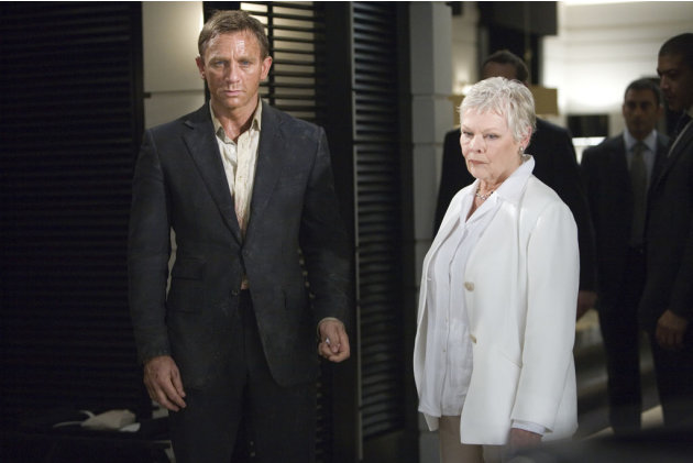 Daniel Craig Judi Dench Quantum of Solace Production Stills Sony Pictures 2008