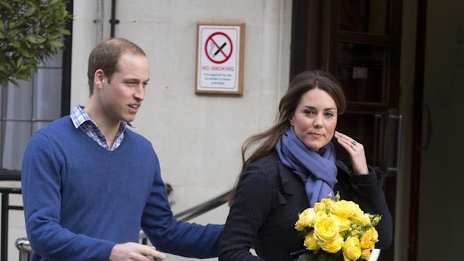 The Duchess Of Cambridge Leaves The King Edwards VII Hospital
