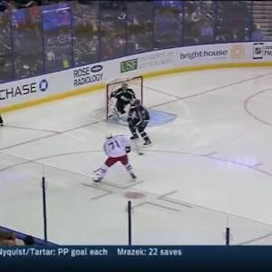 Ben Bishop Save on Nick Foligno (00:42/3rd)