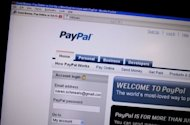 This file photo shows a screen shot of the online payment site PayPal, in 2010. PayPal says it plans to capitalise on its dominant position as a global service for online purchases