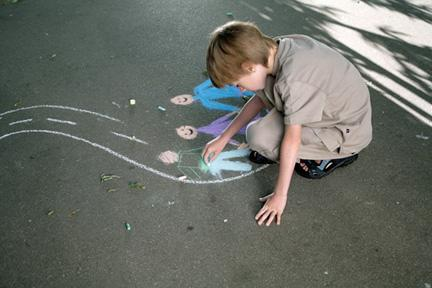 Become a sidewalk artist