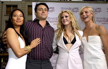 Premiere: Lucy Liu, Matt LeBlanc, Drew Barrymore and Cameron Diaz at the LA premiere of Columbia's Charlie's Angels: Full Throttle - 6/18/2003 