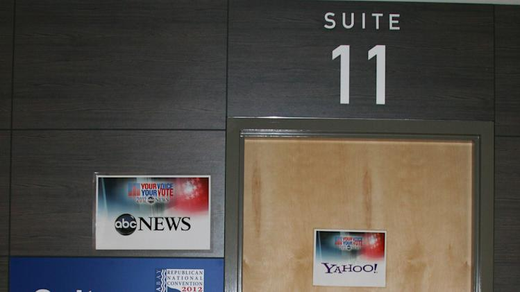 This is the entrance to our media booth where we film livestreaming coverage of the Republican National Convention. (Torrey AndersonSchoepe/Yahoo! News)