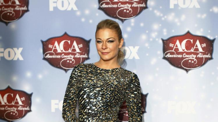 Singer Leann Rimes poses during the 4th annual American Country Awards in Las Vegas