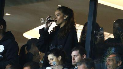 Rihanna Takes Her Soccer With Wine