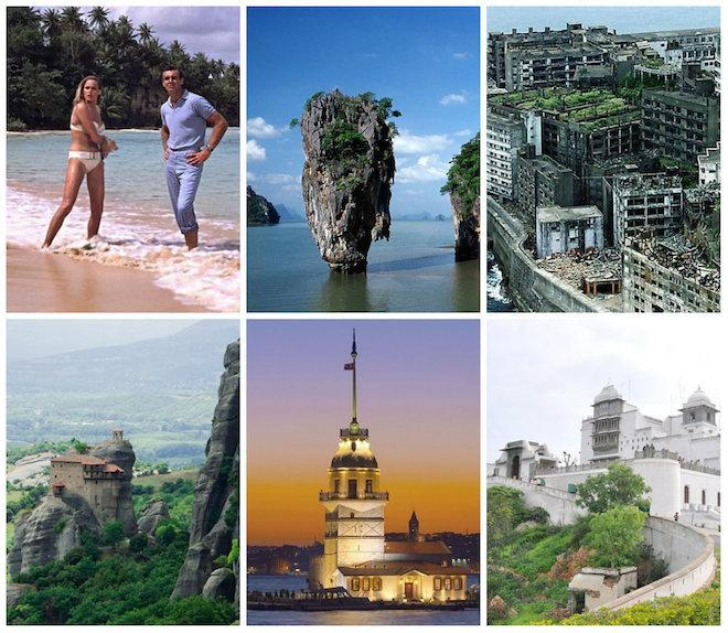 The Real Locations of Bond Villain Lairs Across the Globe