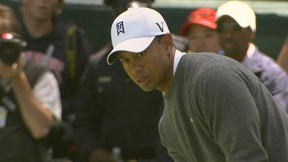 Woods birdies No. 5 in Round 1 of the U.S. Open