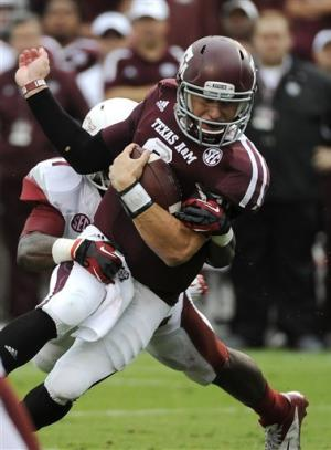 Aggies hand Arkansas 4th straight loss, 58-10