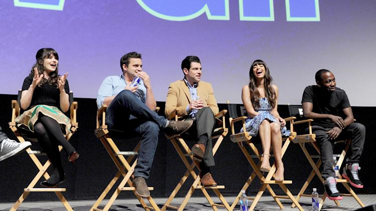 """New Girl"" screening and Q&A at the Academy of Television Arts & Sciences - Zooey Deschanel, Jake Johnson, Max Greenfield, Hannah Simone, Lamorne Morris"