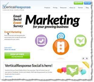 5 Email Marketing Tools to Help You Grow Your Business image Vertical Response email marketing tool