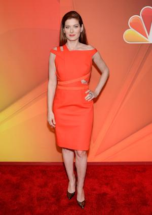 Actress Debra Messing attends the NBC Network 2014 Upfront presentation at the Javits Center on Monday, May 12, 2014, in New York. (Photo by Evan Agostini/Invision/AP)