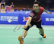 Taufik Hidayat of Indonesia plays in Badminton'sThomas Cup in Wuhan, in China's Hubei province in May. Hidayat, the former Olympic champion who is one of badminton's big four, could have an earlier than expected end to his famous career at the 2012 Games