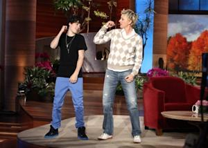 "Justin Bieber appears on ""The Ellen DeGeneres Show"" on November 3, 2010 -- Michael Rozman/ Warner Bros"