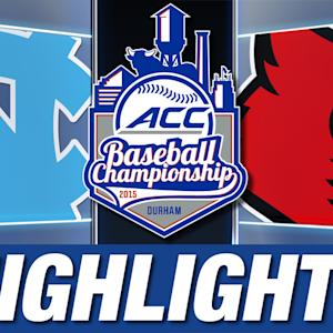 North Carolina vs Louisville | 2015 ACC Baseball Championship Highlights