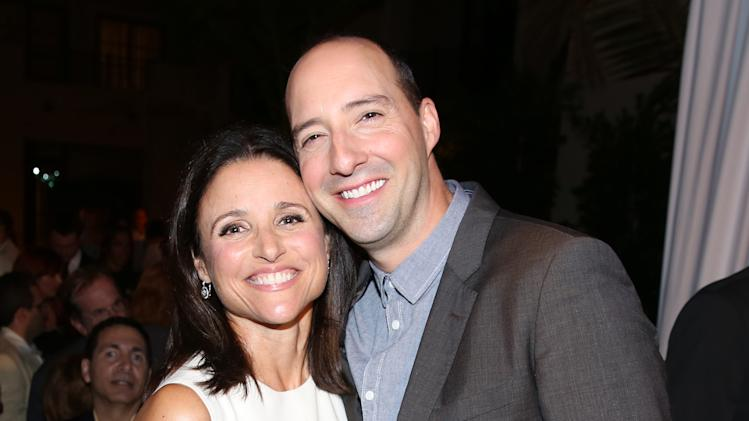 Julia Louis-Dreyfus, left, and Tony Hale attend the Television Academy's 66th Emmy Awards Performers Peer Group Celebration at the Montage Beverly Hills on Monday, July 28, 2014, in Beverly Hills, Calif. (Photo by Matt Sayles/Invision for the Television Academy/AP Images)