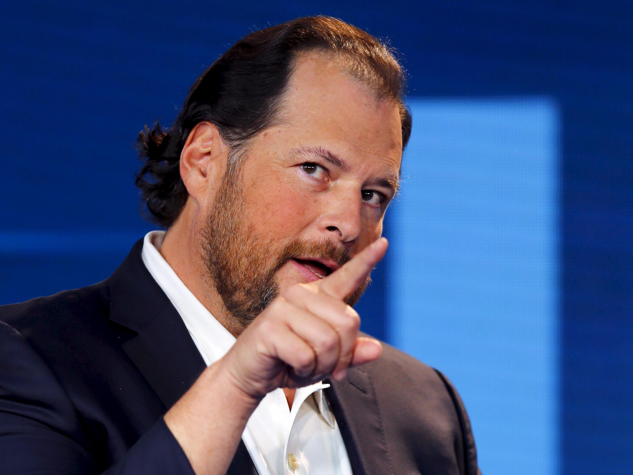 Marc Benioff waylaid Tim Cook at a party to get him to condemn antigay legislation