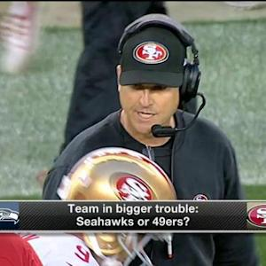 Which NFC West team is in bigger trouble?
