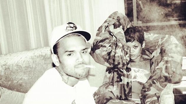 Chris Brown and Rihanna in a photo posted on December 2, 2012 -- Instagram