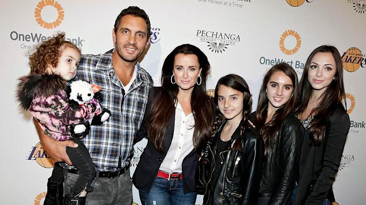 Kyle Richards family Lakers Casino Night