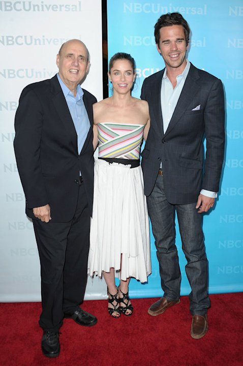Jeffrey Tambor, Amanda Peet, and David Walton (&quot;Bent&quot;) attend the 2012 NBC Universal Winter TCA All-Star Party at The Athenaeum on January 6, 2012 in Pasadena, California. 