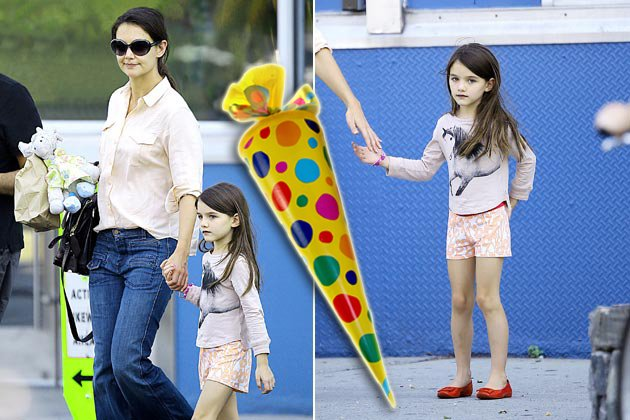 Bald geht die Schule f&#xfc;r Suri Cruise los! (Bilder: Splash News/thinkstock)