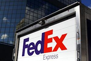 Federal Express delivery truck is seen in San Diego, California