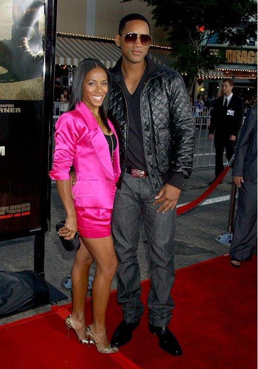 "Will Smith and Jada Pinkett Smith arrive at ""The Kingdom"" premiere."
