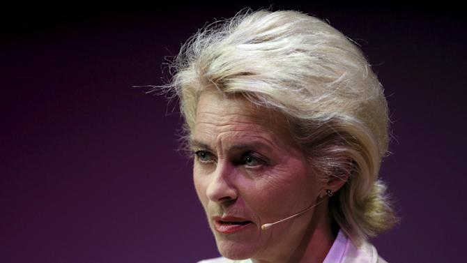 Ursula von der Leyen, Germany's Minister of Defence, speaks at the Women in the World summit in London